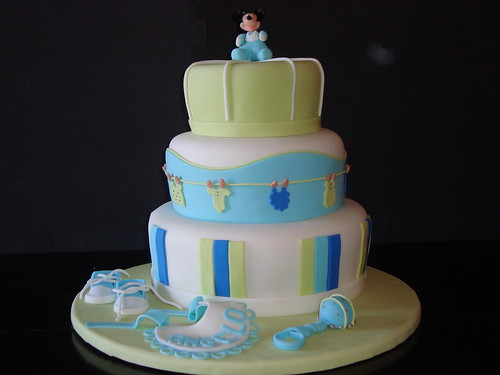 baby mickey shower cake ginnette ortega flickr