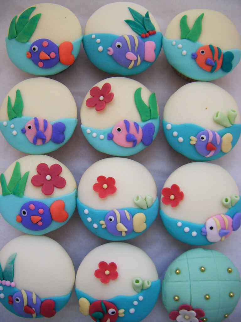 Under The Sea Cup Cake Toppers