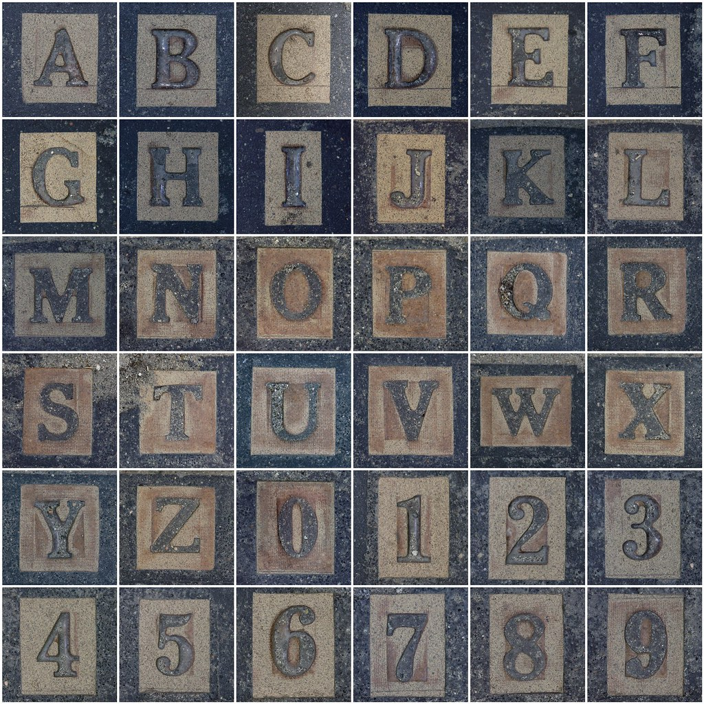 carpet letters. city carpet letters and numbers | by leo reynolds