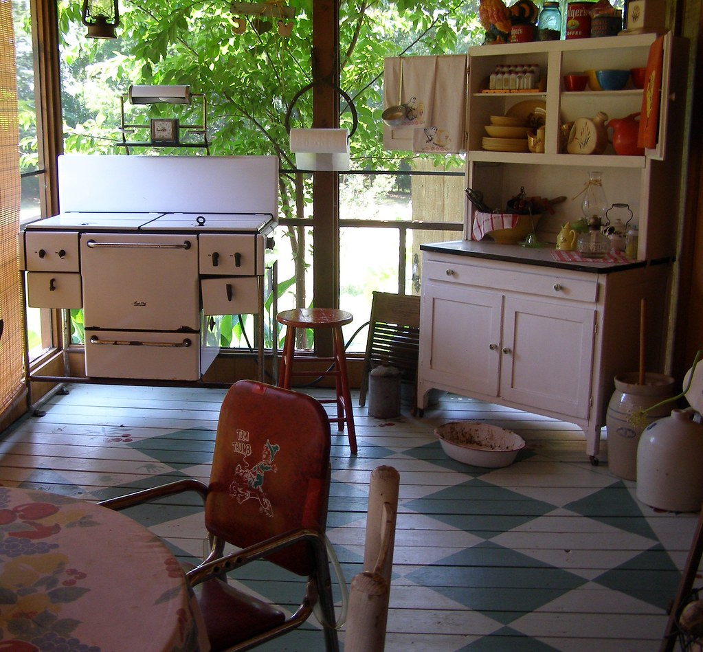 Country Kitchen Jobs: Screened-In Front Porch Kitchen...