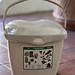 10067 New beige kitchen pail with handle