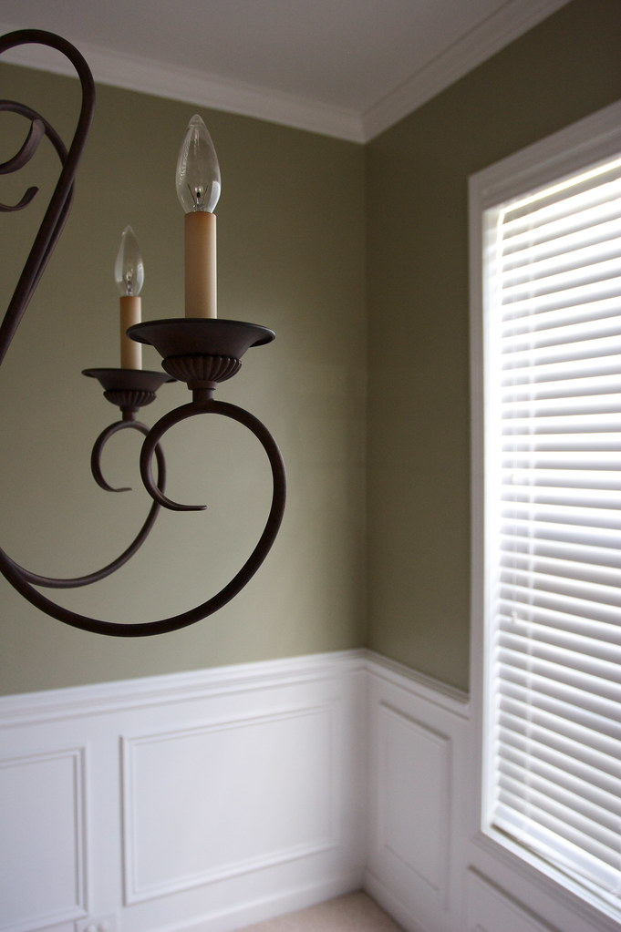 Dining Room Painted With Chair Rail