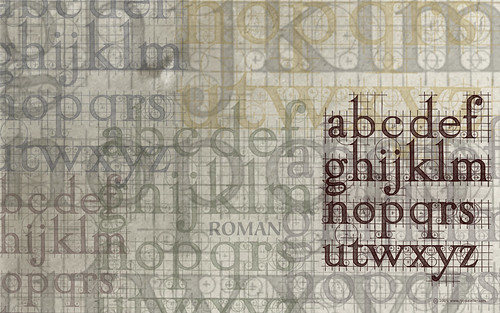 Roman Lowercase Letters (for 24″ widescreen displays) | by arnoKath