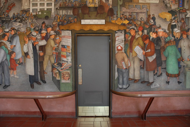Coit tower murals explore zemlinki 39 s photos on flickr for Coit tower mural artists