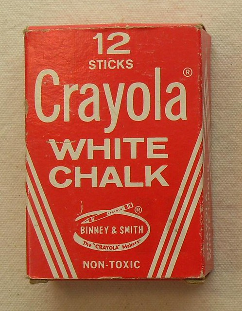 12 Sticks CRAYOLA Vintage 1960s White Chalk In Box | Flickr