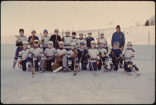 Hockey Team Picture Is Taken at the West Side Park in New Ulm, Minnesota ..., 01/1975 | by The U.S. National Archives