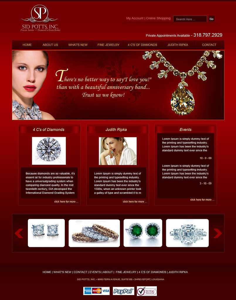 jewellery website designs
