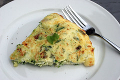 Light Zucchini Frittata with Basil and Mint | by Maggie Hoffman