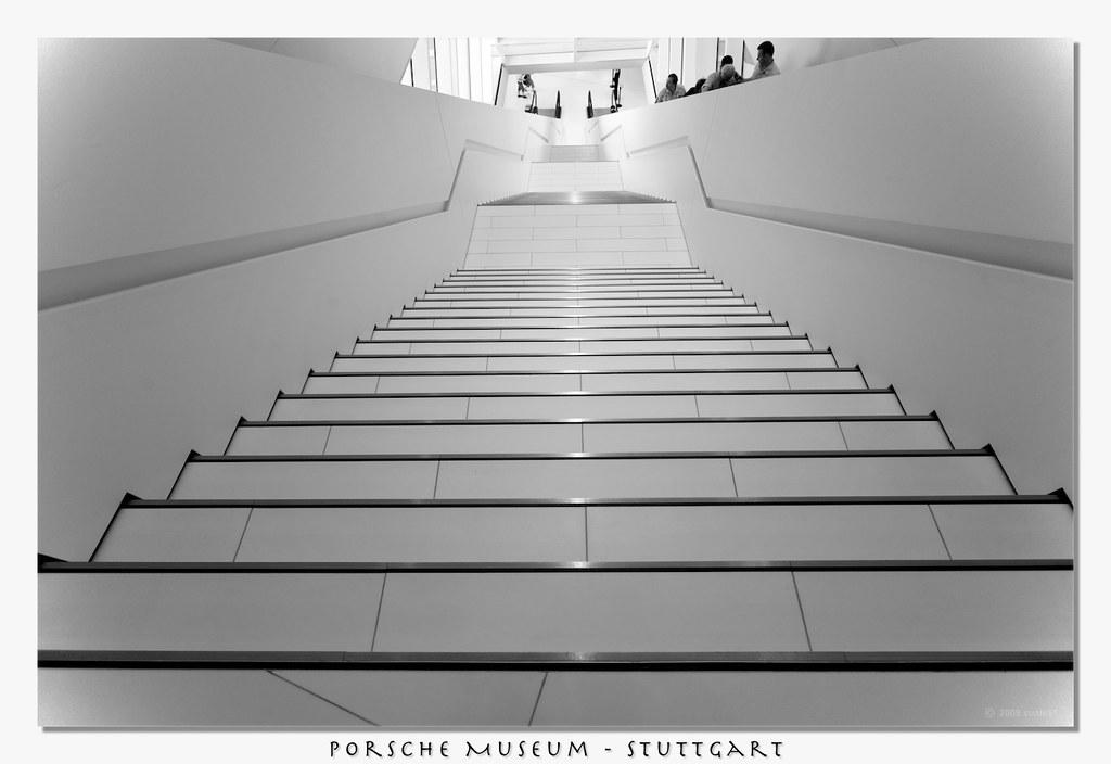 Long Stairs Porsche Museum Porsche Museum In Stuttgart