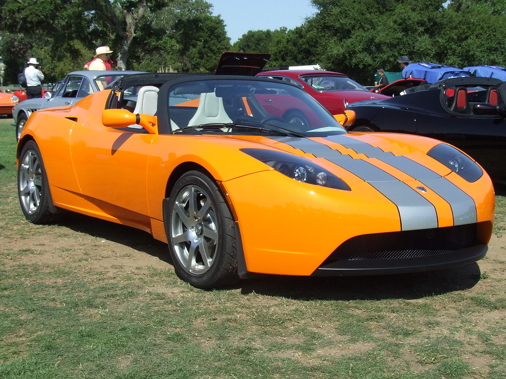 2008 Tesla Roadster Orange 1 Jc Photo By Jim Clark