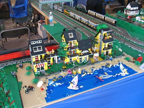 michigan lego train club display at the owosso train festi