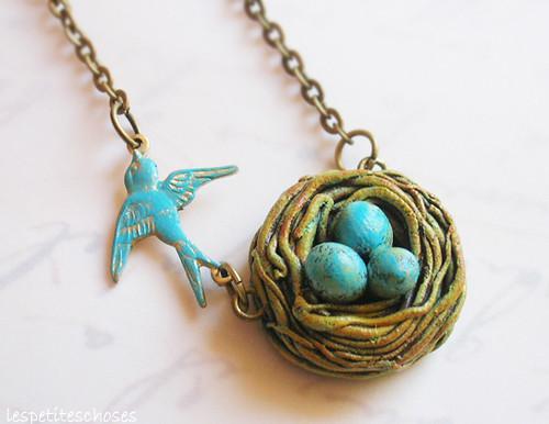 Bird nest necklacecolar ninho mais um ninho com uma andor flickr bird nest necklacecolar ninho by lespetiteschoses aloadofball Choice Image