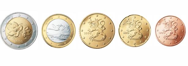 2 euros de Finlandia, con Lakka en el reverso