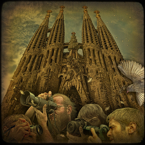 Back to the Future or crazy shooting at Sagrada Familia during its possible Grand Opening in the 2020's... | by egold.