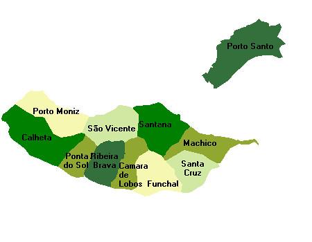 mapa da madeira concelhos Mapa da Região Autónoma da Madeira | Concelhos da Madeira | Jorge  mapa da madeira concelhos