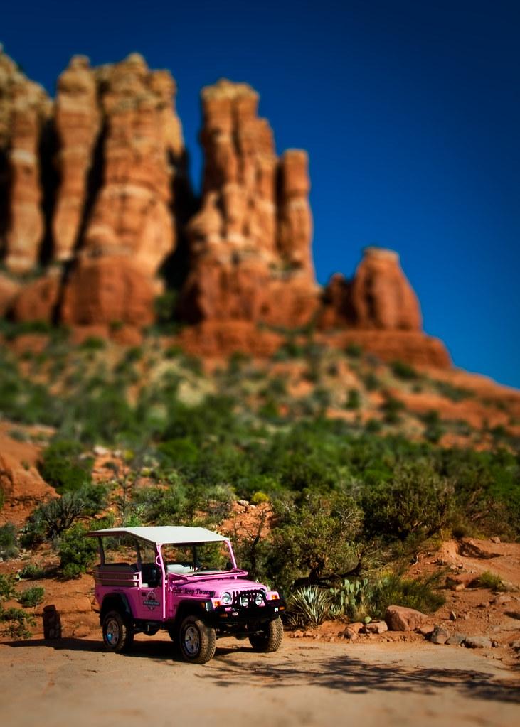 Sedona Tilt Shifted One Of Sedona S Pink Jeeps On The