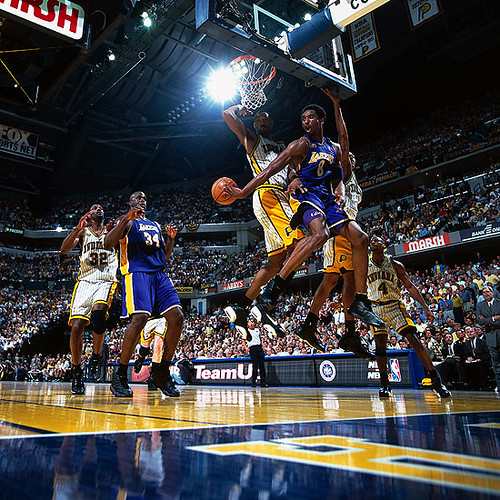 Kobe's nice pass to Shaq | Conseco Fieldhouse Indianapolis ...