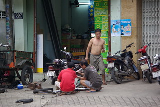 Moped Repairs - Cycling In Saigon | by The Hungry Cyclist