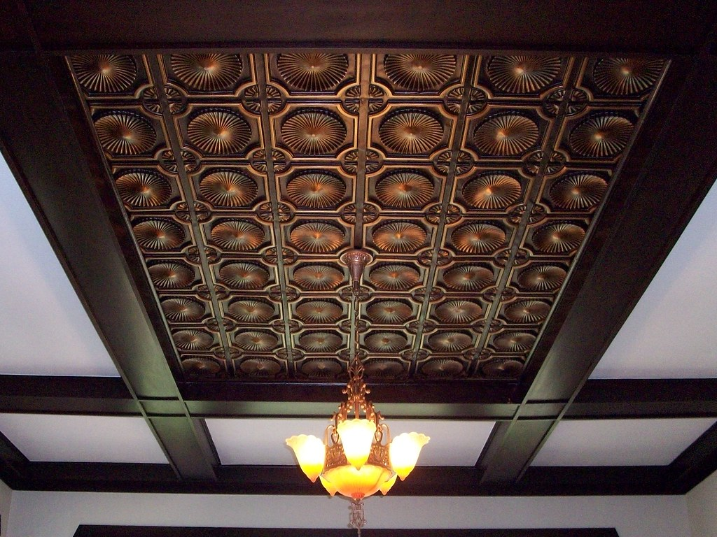 Faux Tin Ceiling Tile 106 Antique Copper An Image From