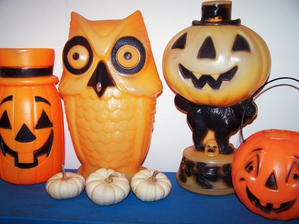 vintage halloween decorations blow molds by missconduct