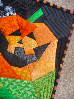Pumpkin Mini Quilt - detail | by sewtobed