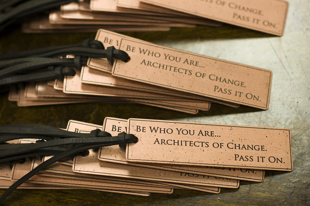 custom bookmarks be who you are architects of change p flickr