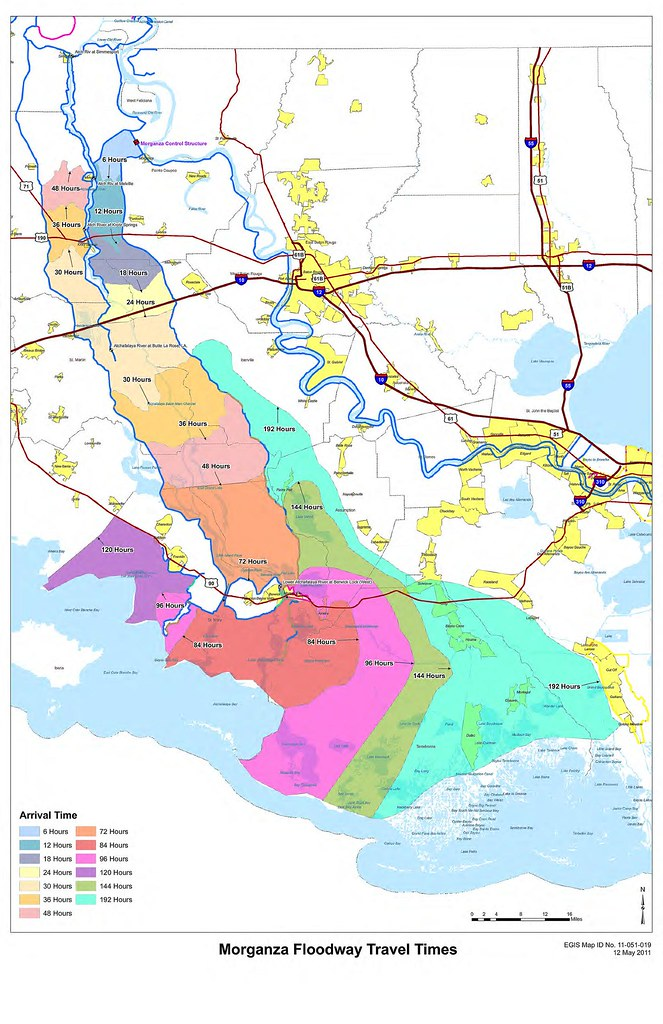 Morganza Floodway Travel Times Team New Orleans US Army Corps - Us army travel map