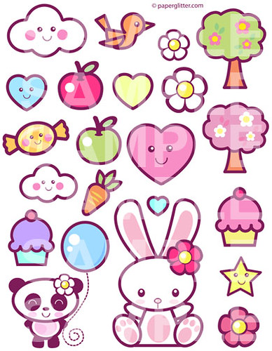 Kawaii Printable Digital Collage Sheet | You can print and m ...