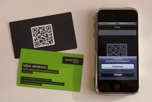 Digital Business Card : Wanda digital qr business cards you can read the