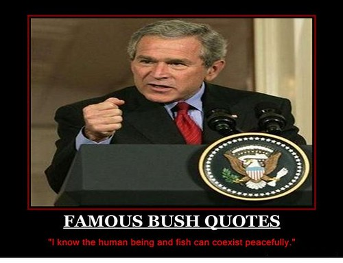 Famous Stupid Quotes: One Of Nine Famous Stupid Bush Quotes