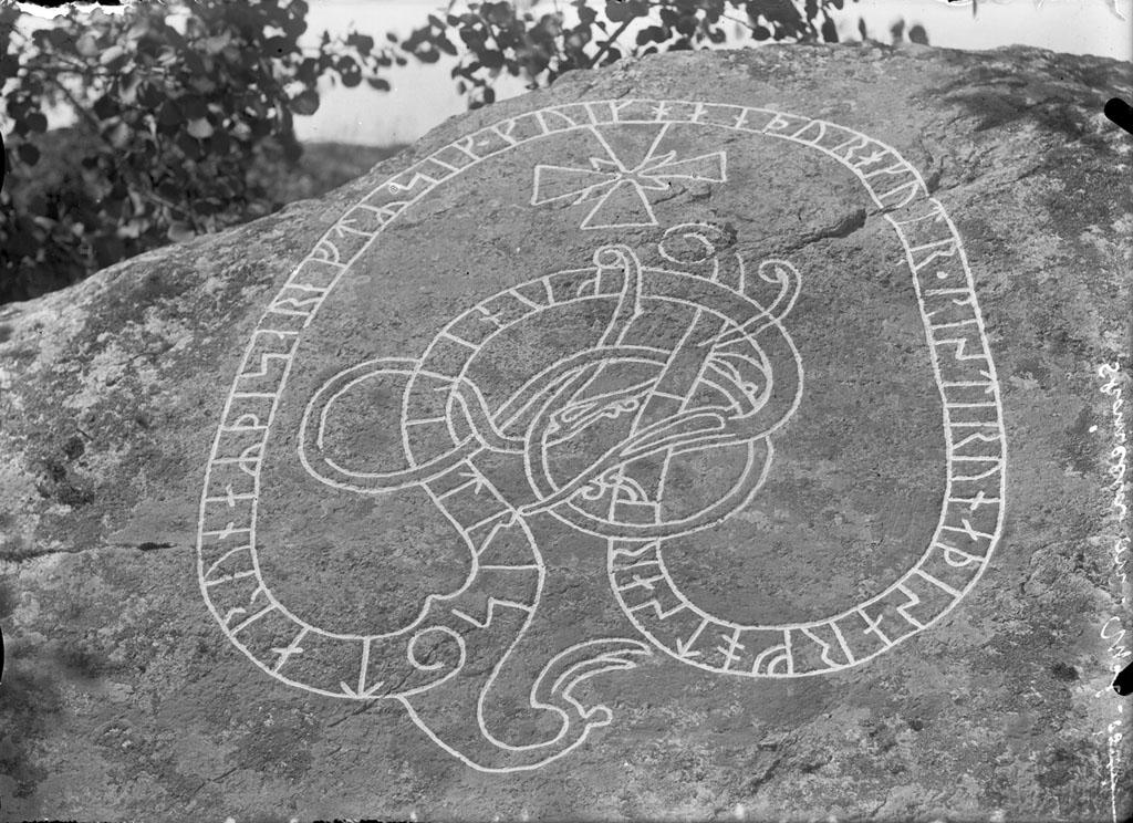 Runic Inscription Ekeby Uppland Sweden Runic