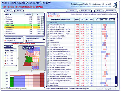 Health District Profiles, Mississippi State Department of Health, US | by instantatlas
