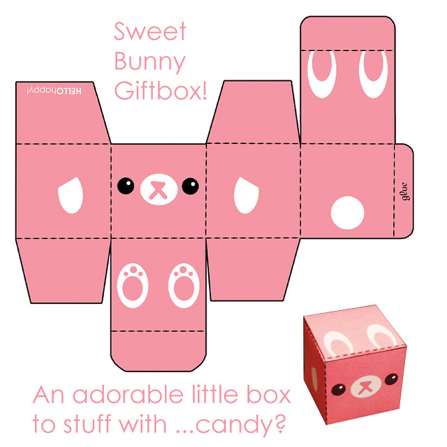 Gift Box Craft Template