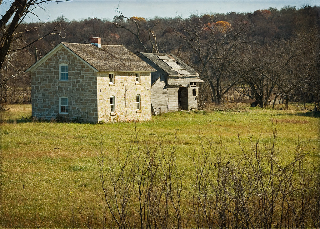 Abandoned Farm House Douglas County Kansas