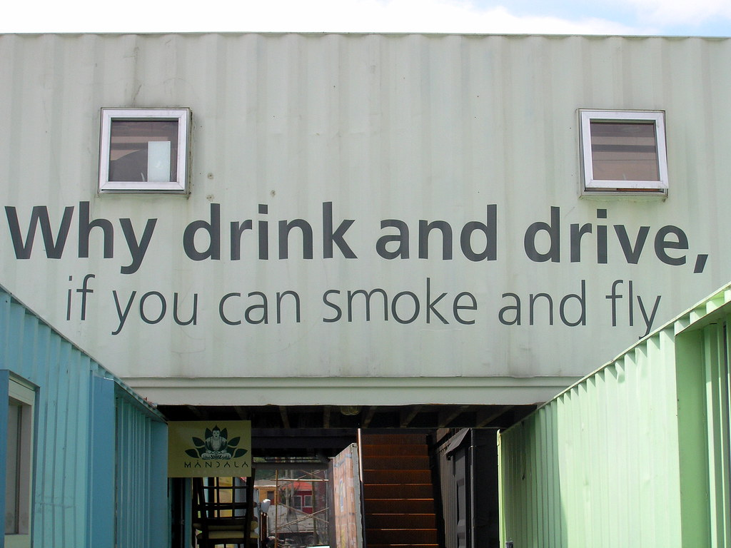 Why Drink And Drive When You Can Smoke And Fly