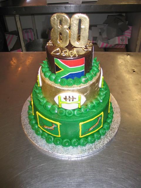 80th birthday cake rugby theme flickr photo sharing for Gardening 80th birthday cake