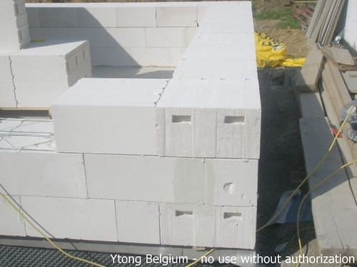 ytongmuur mur ytong 2 mur fait de blocs ytong super isolan flickr. Black Bedroom Furniture Sets. Home Design Ideas