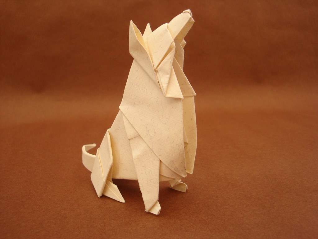 Seated Dog Designed Folded By Ares Alanya Diagrams On O Flickr Origami And Designs How To Fold An