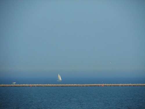 ghost sailboat on Lake Michigan | by The Shifted Librarian