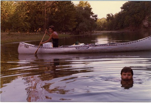 Color Snapshot: John And Friend On The Illinois River, 1979 Or 1980. | by mrwaterslide