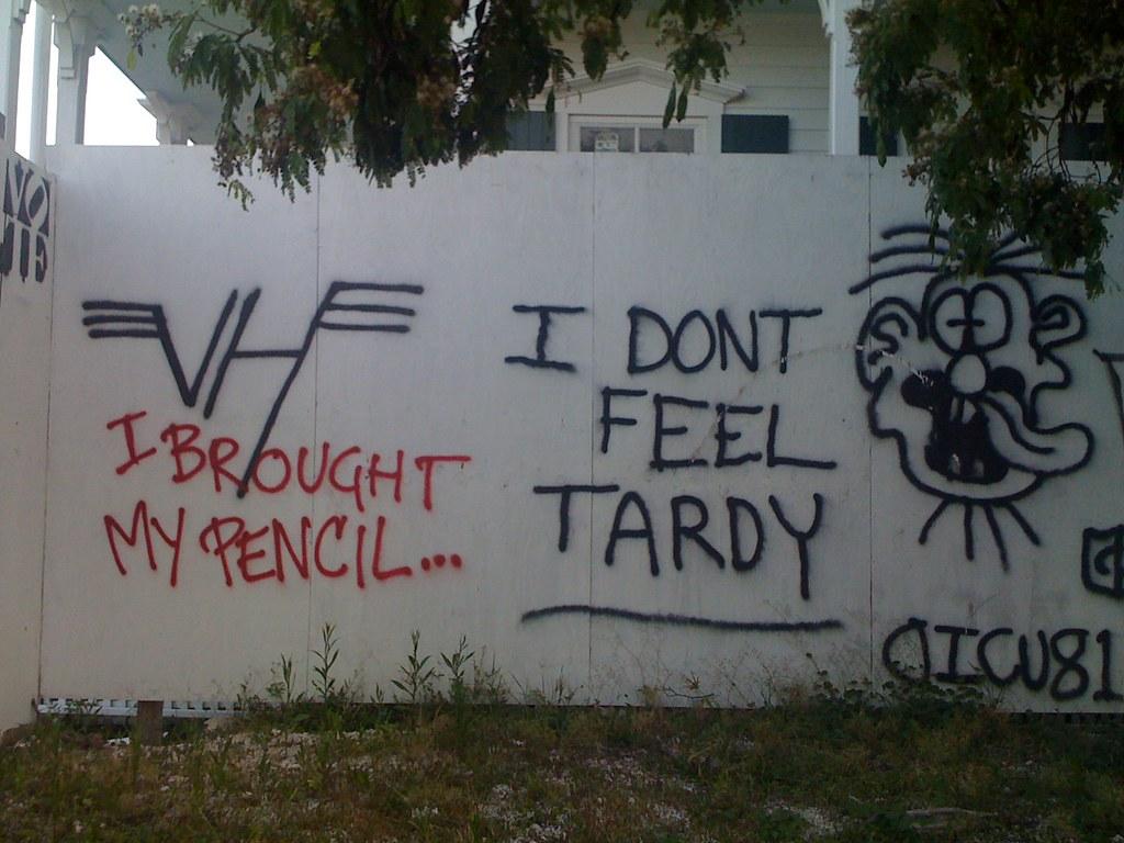 I Don T Feel Tardy Hot For Teacher Inspired Graffiti In