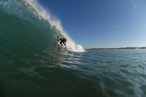 Surfing Jersey Channel Islands