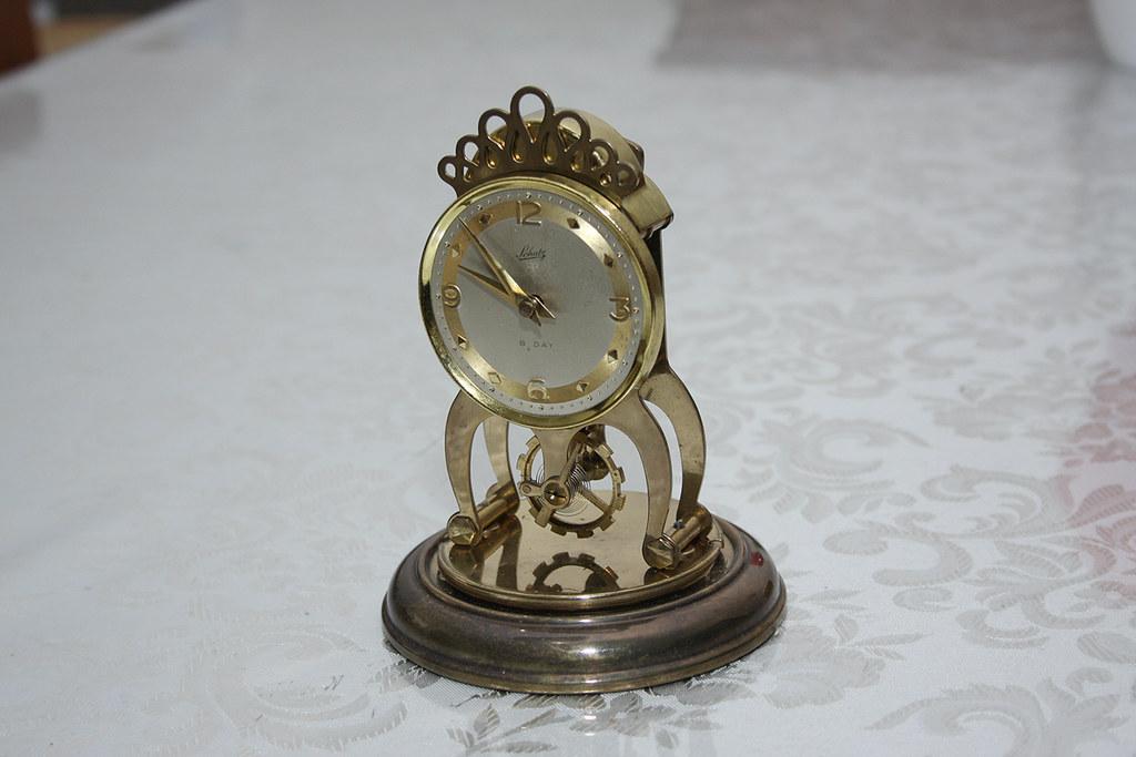 Schatz Mantel Clock German Made Schatz 8 Day Mantel