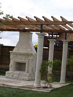 Outdoor Fireplace and Garden Party Pergola | by Vicon Eco Systems Construction