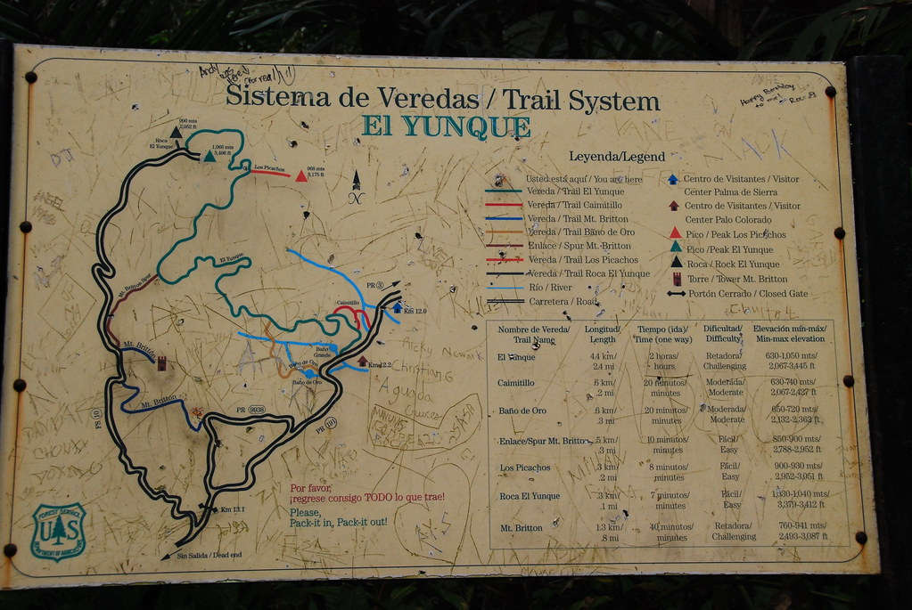 El Yunque - Useless Map | The maps along the trails in El Yu… | Flickr