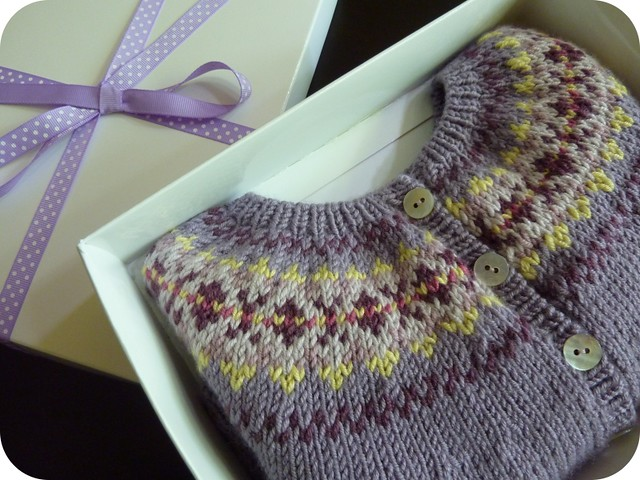 Fairisle Box Cardigan Made For A Friends Baby In Size 6 9 Flickr