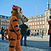 Madrid. Mayor square. Street mime. Spain