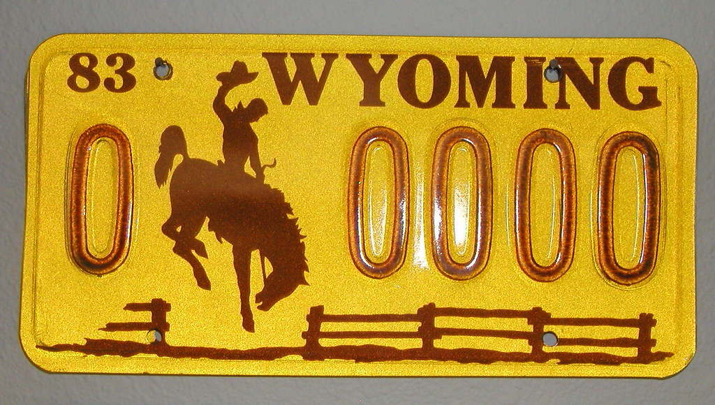 License Plate Camera >> 1983 Wyoming Sample License Plate | carfull...in Wyoming ...