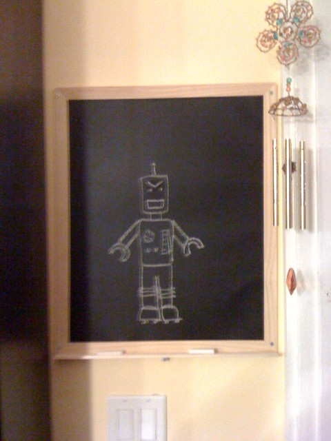 Magnetic Chalkboard Wall Kitchen