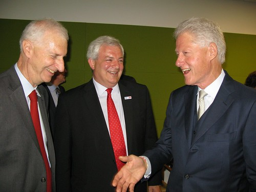 Parliamentary Under Secretary of State, Stephen O'Brien MP meeting with Former President Bill Clinton | by UKUnitedNations